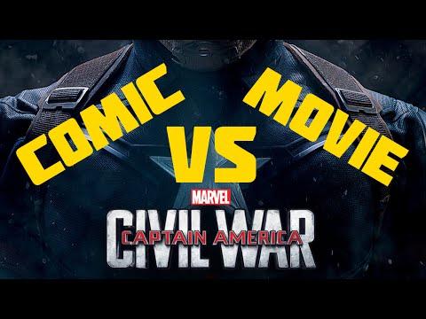 Captain America Civil War : Comic vs Movie  2MH