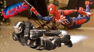 SPIDER-MAN PS4 VS WAR MACHINE BATTLE ROYALE Stop Motion