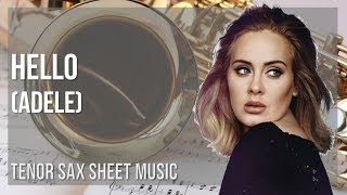 EASY Tenor Sax Sheet Music: How to play Hello by Adele