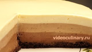 Торт Три шоколада - Рецепт Бабушки Эммы(Рецепт - Торт Три шоколада от http://www.videoculinary.ru/Бабушка Эмма делится Видео-рецептом Торта Три шоколада. http://www.vi..., 2015-05-15T08:17:47.000Z)