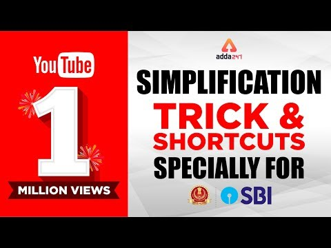 Simplification Tricks and Shortcut for (SBI PO & SSC)