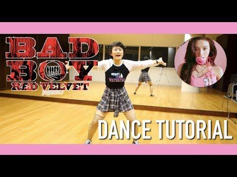 Red Velvet 레드벨벳 Bad Boy Dance Tutorial   Full w mirror [Charissahoo]