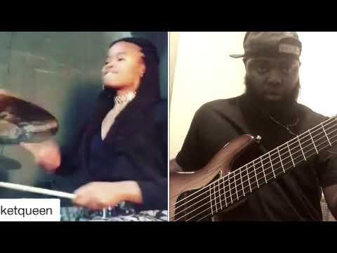 "Talyor Gordon on Drums X 6 Strangs on Bass ""Show me what you got"""