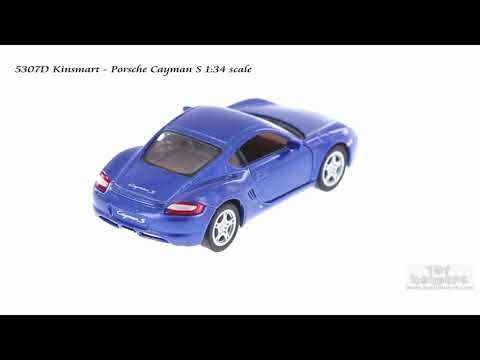 but NO Box Blue 5307D 1//34 Scale Diecast Model Toy Car Kinsmart Porsche Cayman S