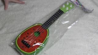 Обзор детской гитары в виде арбуза