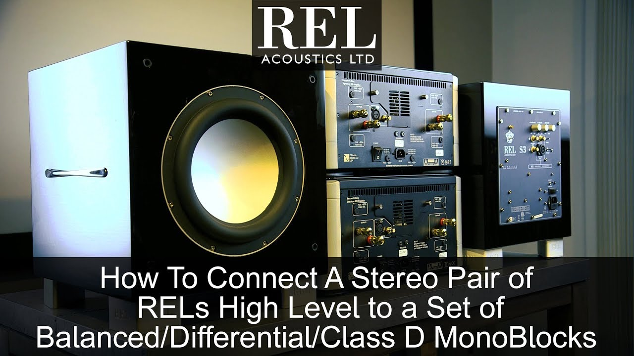 How to Connect My Subwoofer | REL Acoustics
