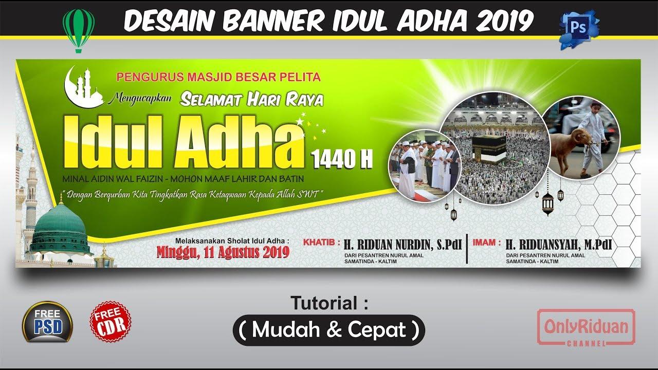 Desain Banner Idul Adha 1440 H (2019) dengan CorelDRAW dan ...