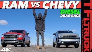 It Just Got Real! We Drag Race the New 2020 Silverado Duramax vs the New Ram EcoDiesel