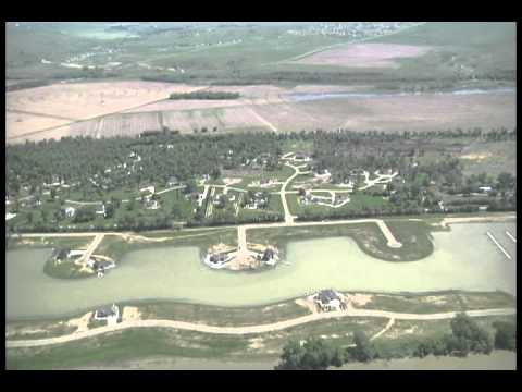 Aerial Missouri River Hoge Island area - June 5, 2011