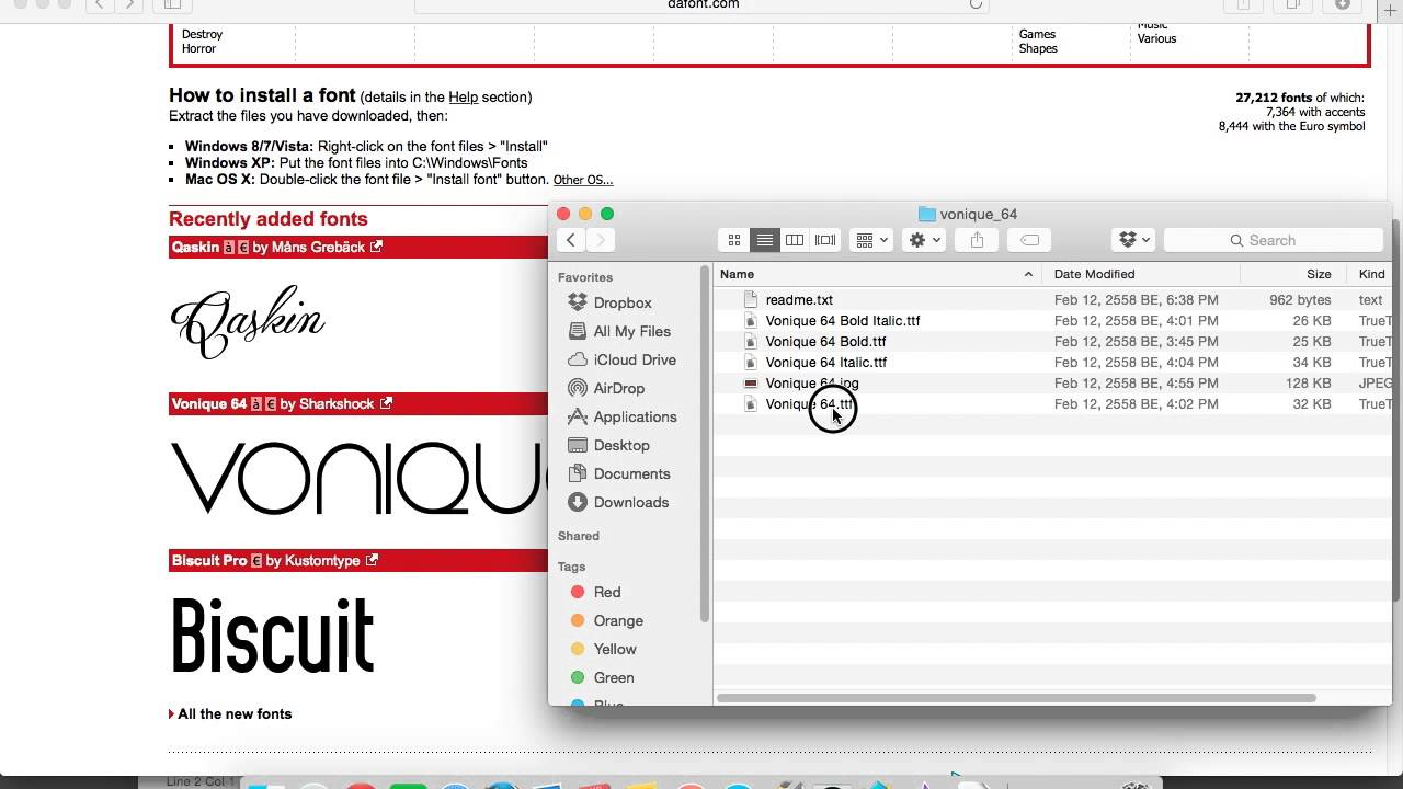How to install fonts on mac os x yosemite youtube how to install fonts on mac os x yosemite biocorpaavc Images