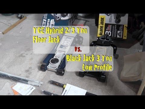 TCE 2/3 Ton Hybrid Jack vs. Torin 3 Ton Black Jack