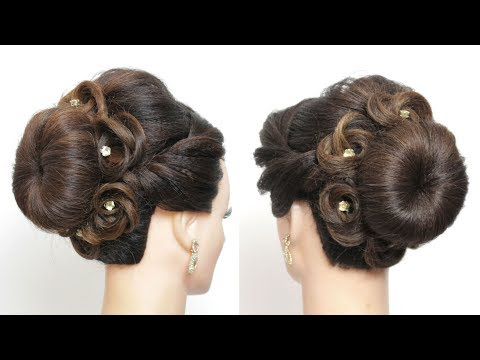 Womenbeauty1s Simple French Roll Hairstyle With Hair Stick Youtube