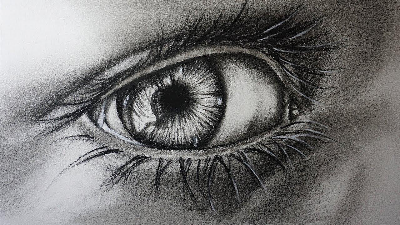 Cómo Dibujar Un Ojo Realista A Lápiz Carboncillo Paso A