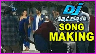 Duvvada Jagannadham Movie Song Making | Allu Arjun | Pooja Hegde | DJ Movie Shooting Spot