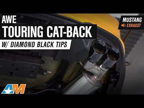 2018 Mustang GT Fastback AWE Touring Cat-Back W/ Diamond Black Tips Exhaust Sound Clip & Install
