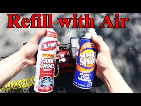 How to Refill an Aerosol Spray Can (Like Carb Cleaner, WD40, etc)