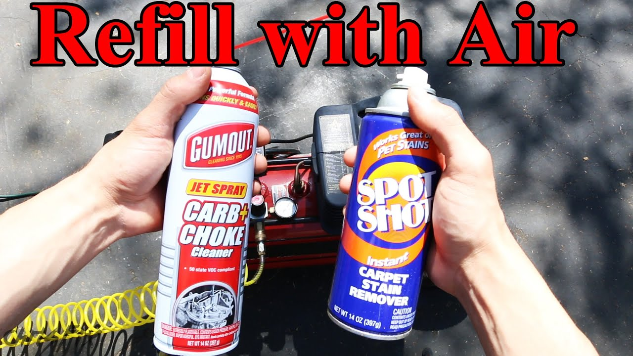 How To Refill An Aerosol Spray Can Like Carb Cleaner