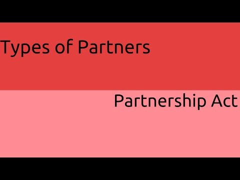 Types of Partners | General Nature of Partnership | CA CPT | CS & CMA Foundation