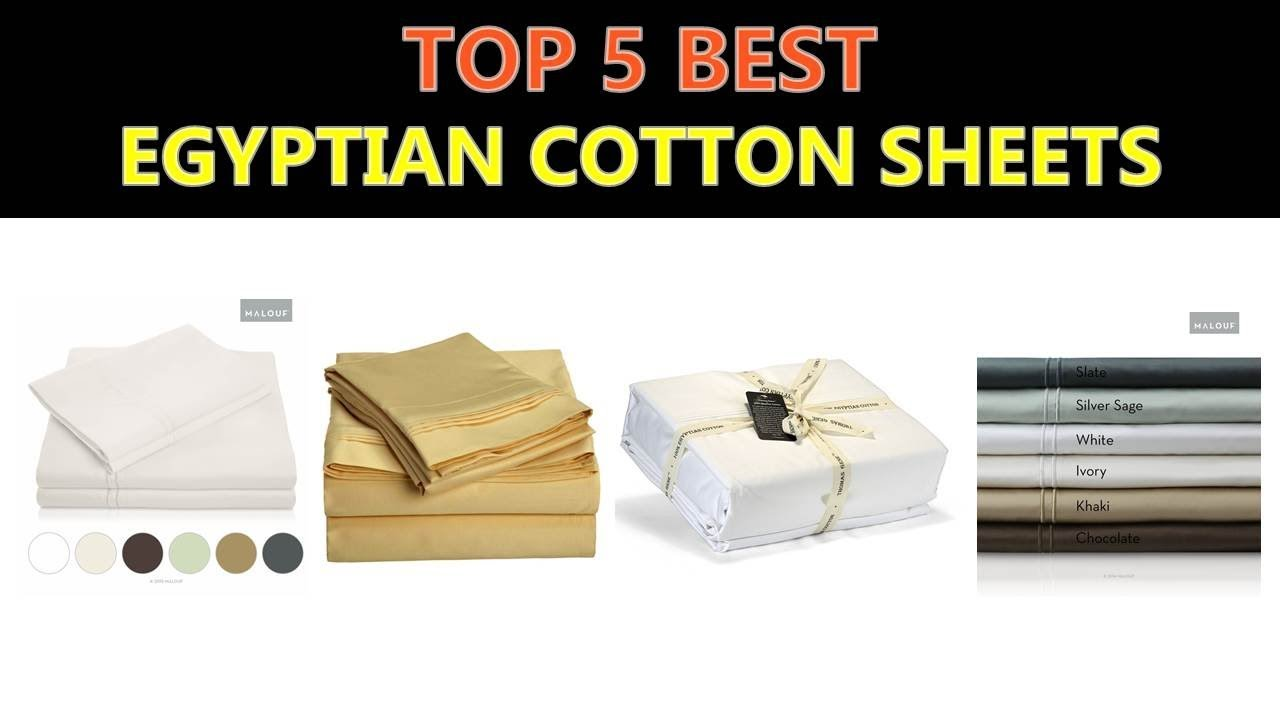 Best Egyptian Cotton Sheets 2018