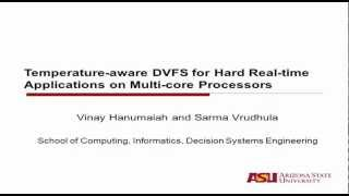 Temperature-aware DVFS for Hard Real-time Applications on Multi-core Processors