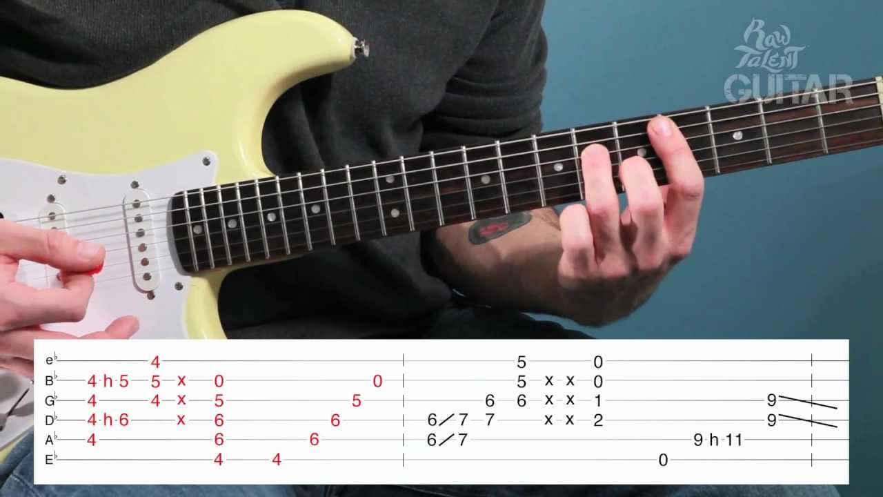 Guitar chords lesson for