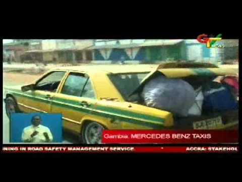 Mercedes Benz taxis in the Gambia