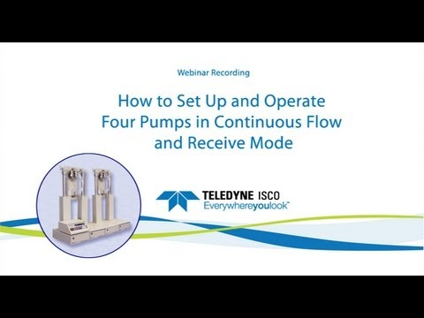 How to Set Up and Operate 4 Pumps in Continuous Flow and Receive Mode