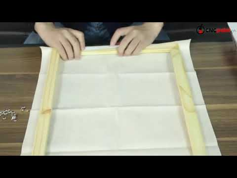 How to Assemble CNC Wooden Frame for Paint by Numbers Canvas