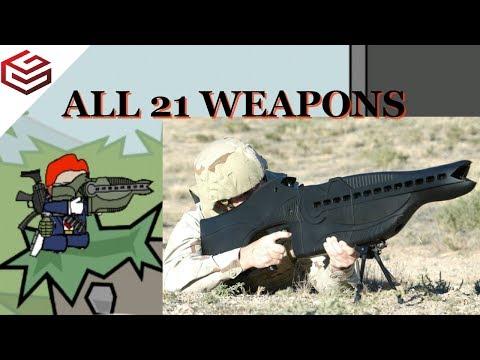MiniMilitia Weapons in Real Life