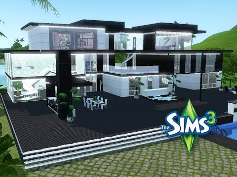 Sims 3 haus bauen let 39 s build modernes luxushaus for Modernes haus 2 etagen