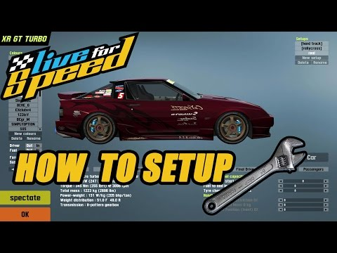 Live For Speed: How To Setup The XRT For Drifting!