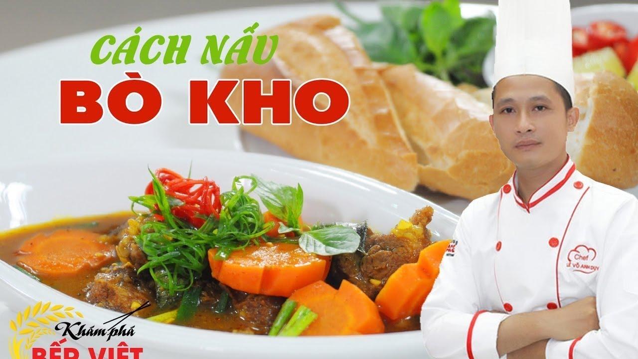Cách nấu Bò kho bánh mì – Chiếc thìa vàng 2016 Chef Duy | How to make Vietnamese Beef Stew