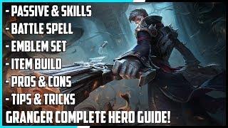 New Hero Granger Complete Guide! Best Build, Spells, Skill Combo, Tips & Tricks   Mobile Legends