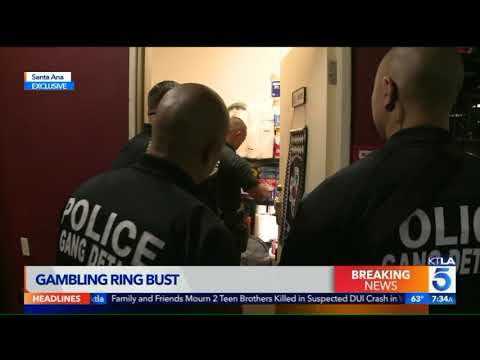 Alleged Illegal Gambling Ring Busted in Santa Ana