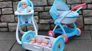 Baby Dolls Disney Frozen Nursery - Rocking Bed Highchair Dolls Pram Baby Annabell Lil Cutesies