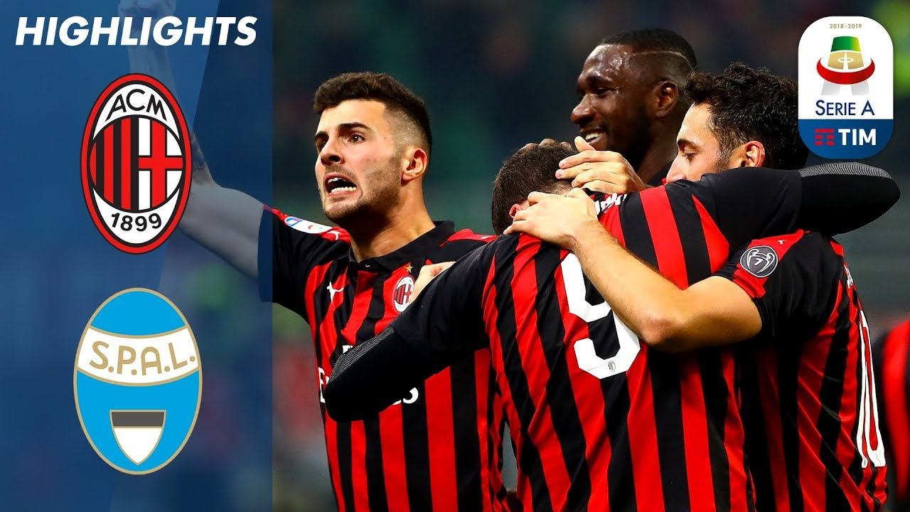 Milan 2 1 Spal Ten Man Milan Get Past Spal At The San
