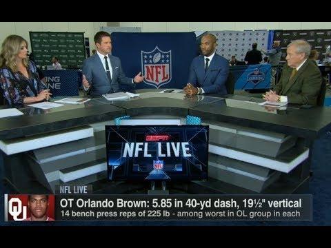 Orlando Brown Stock Falling?  NFL Live 2018 Combine  Mar 2, 2018