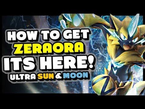How To Get Zeraora In Pokemon Ultra Sun And Moon - New Pokemon Zeraora  Event!