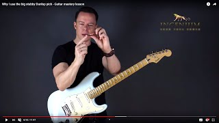 Why I use the big stubby Dunlop pick - Guitar mastery lesson