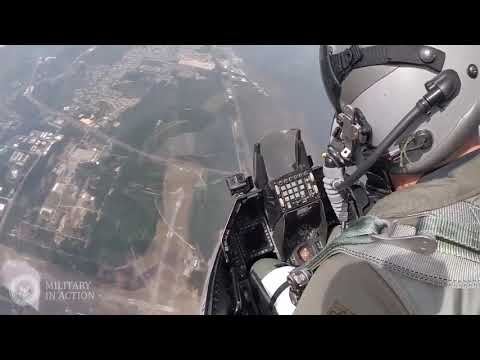Cockpit View USAF F-16 Fighter Jets in Action Beautiful Take Off and Landing