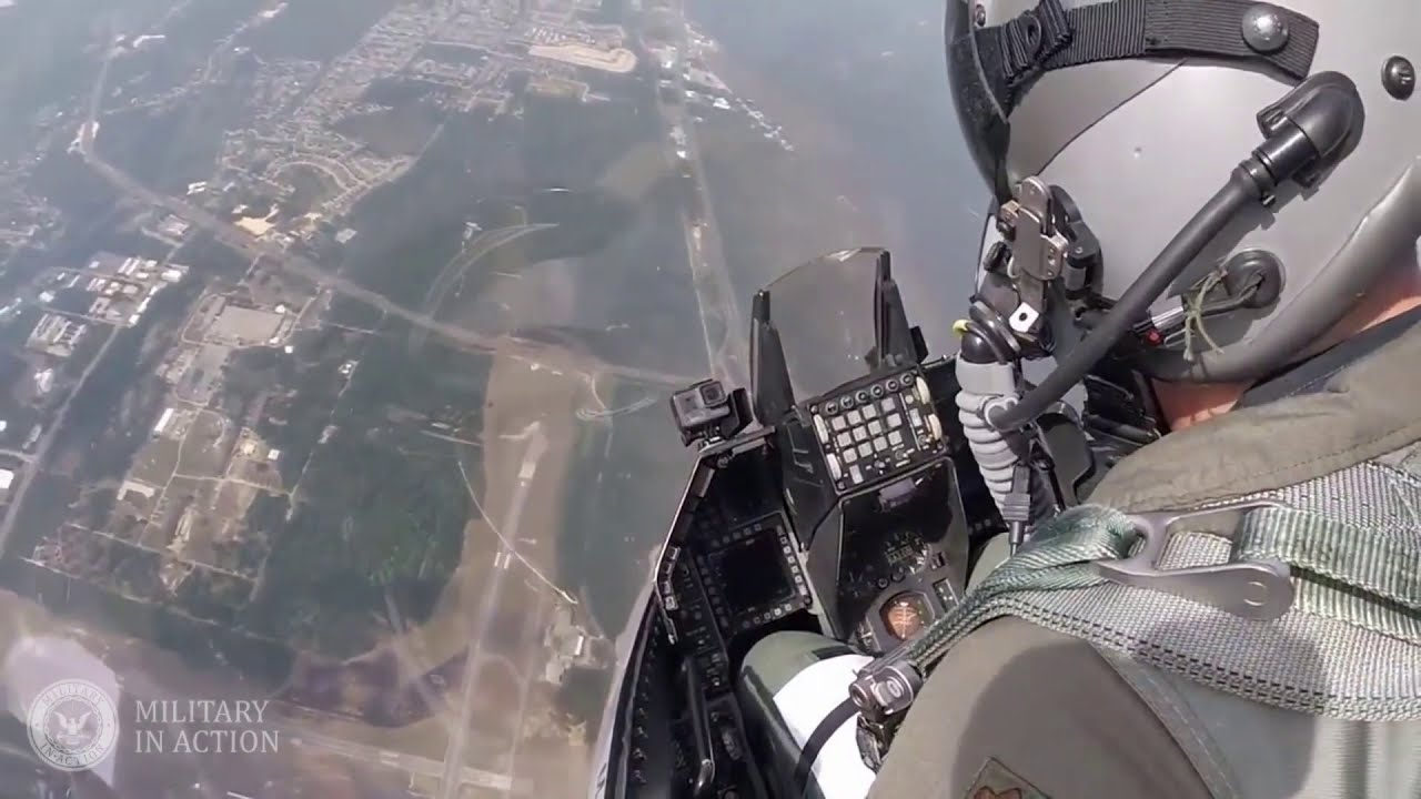 Cockpit View USAF F 16 - Fighter Jets in Action Beautiful Take Off and Landing