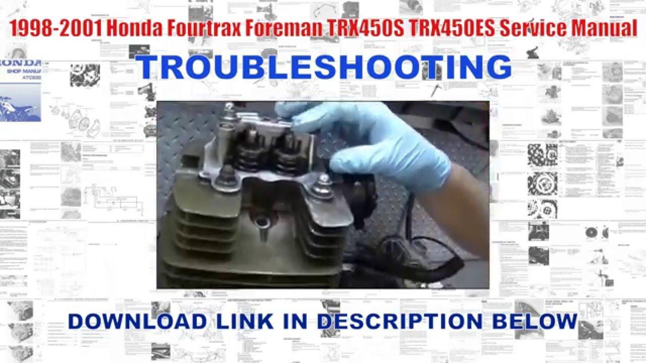 1998 2001 honda fourtrax foreman trx450s trx450es factory 1998 foreman wiring diagram