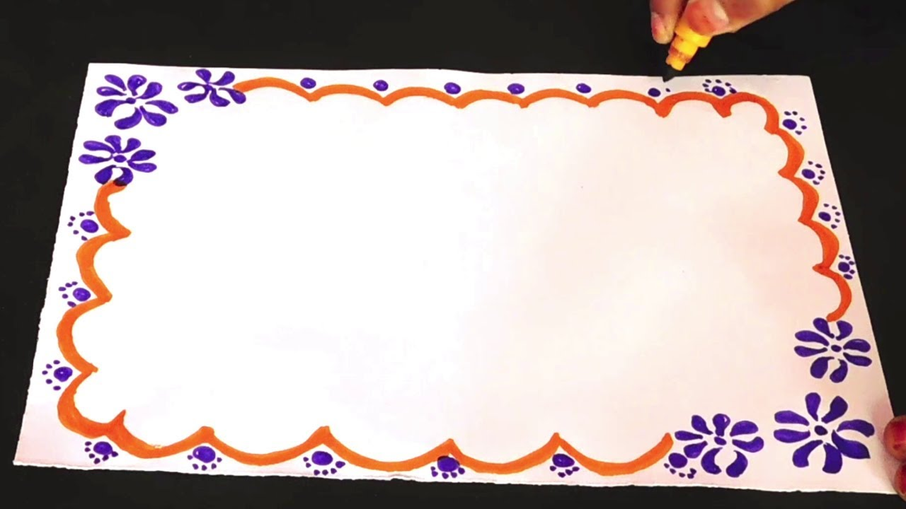 Simple Project Work For Kids Easy Border Design On Paper New