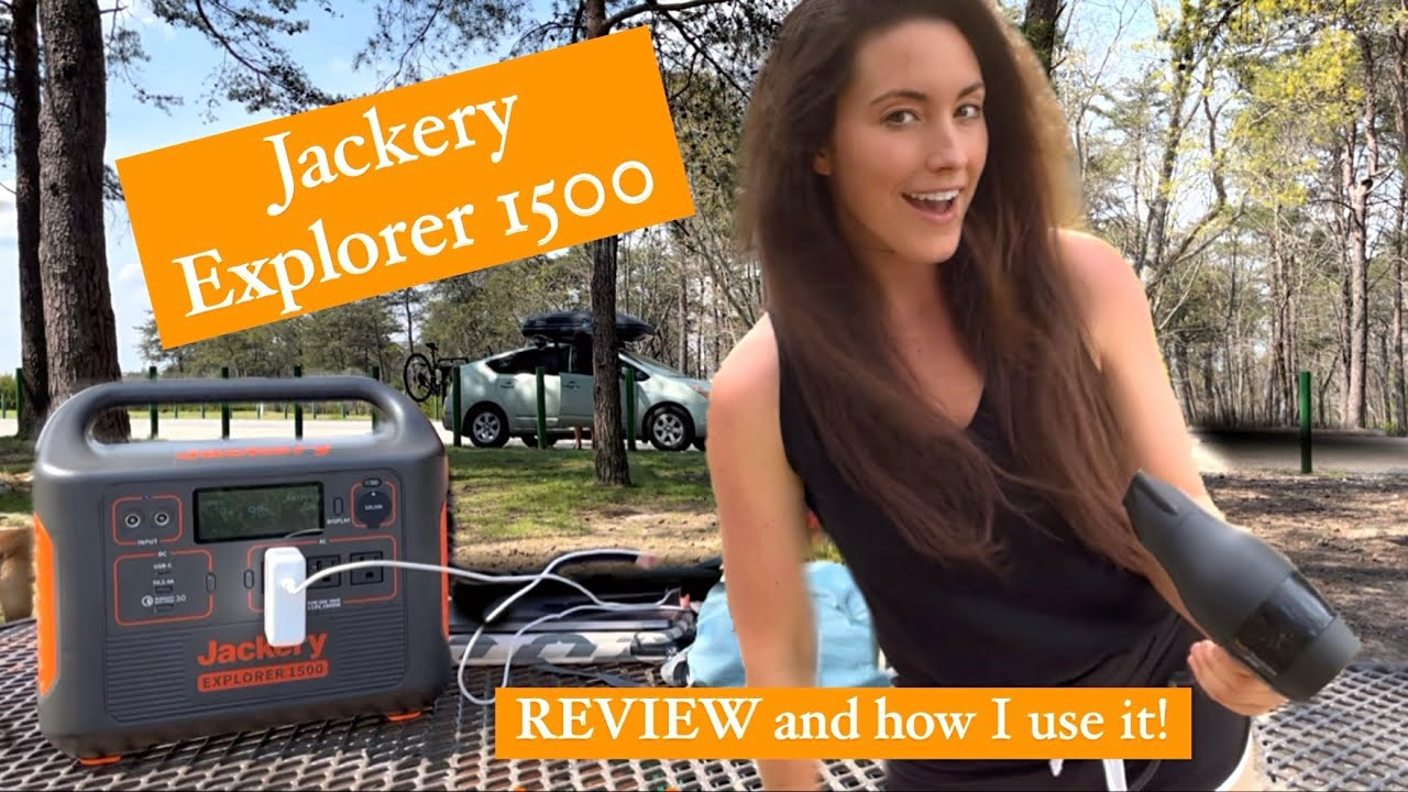 Getting power when you live in a car. Jackery 1500 Portable Power Station REVIEW & how I use it!