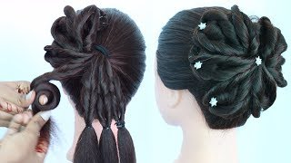 new twisted hairstyle | wedding hairstyle | party hairstyle | different hairstyle | cute hairstyles