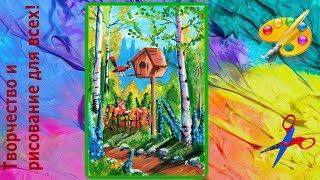 Как нарисовать весну в саду для начинающих Creativity & Art of Olga Mishina