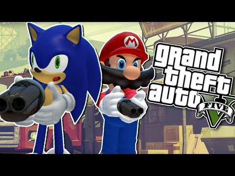 Mario VS Sonic || Grand Theft Auto 5 (GTA V)