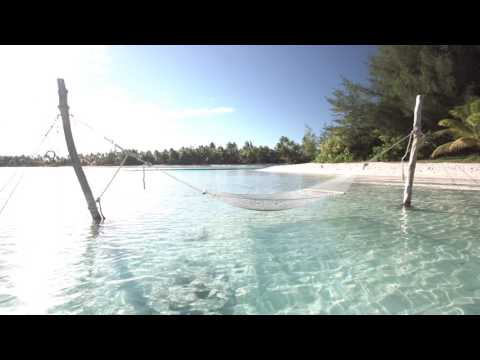 One Hour of Paradise in 4K, HD, Beach and Waves Bora Bora, Relaxandsea