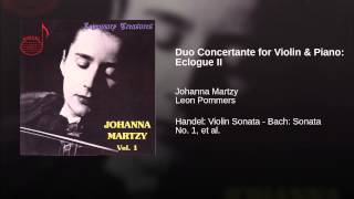 Duo Concertante for Violin & Piano: Eclogue II