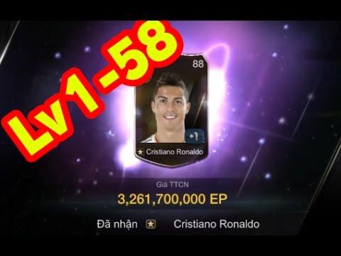 Review mở thẻ Fifa online 3 Lv 1 - 58 - Mở ra Ronaldo WB 3 Tỉ EP và Dani Alves WB
